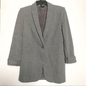 Mossimo Gray Oversize T-Shirt Blazer Casual Jacket